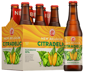 New Belgium Citradelic Tangerine IPA and Exotic Lime Ale 6 pk bottles
