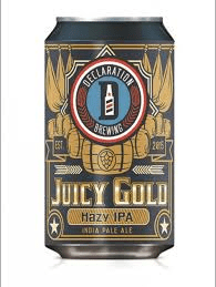 Declaration Brewing, Juicy Gold Hazy IPA, $9.49 6pk cans
