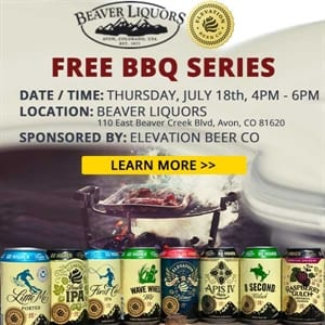 Free BBQ series with Elevation Beer Co.