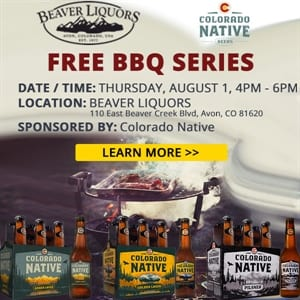 Free BBQ with Colorado Native Beers