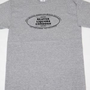 Beaver Liquors Condoms T-shirt