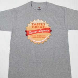 Tastes great bottle cap t-shirt