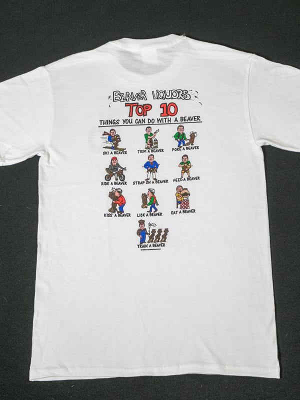 Top Ten Things you can do with a beaver t-shirt