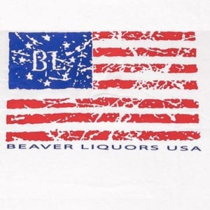 Beaver Liquors USA Flag T-shirt
