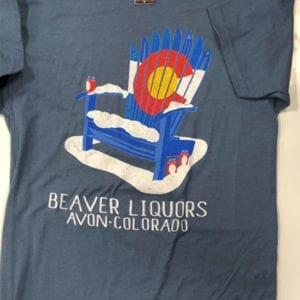 Beaver Liquors Ski Chair T Shirt