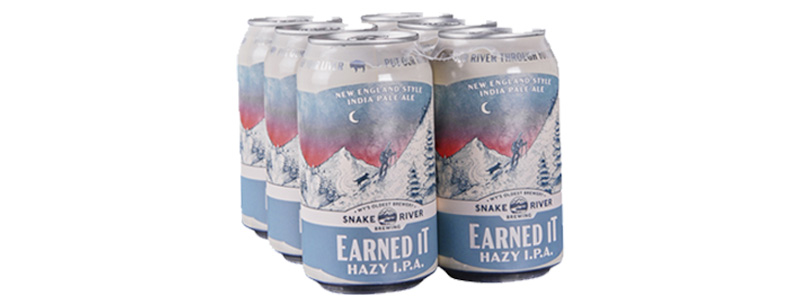 "Snake River Brewing, ""Earned it"" Hazy IPA"